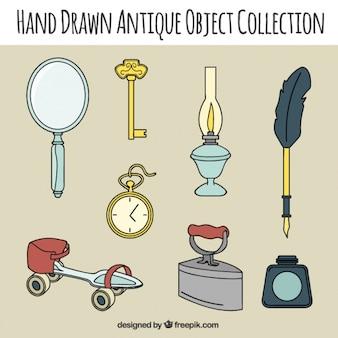 Sammlung von objekten und vintage-accessoires