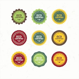 Sammlung von öko- und bio-etiketten
