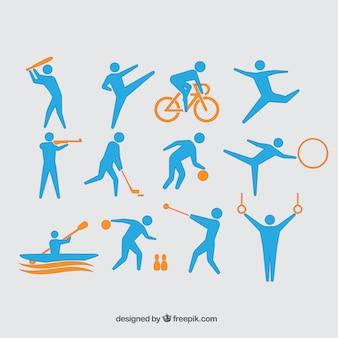 Sammlung von olympia-athleten