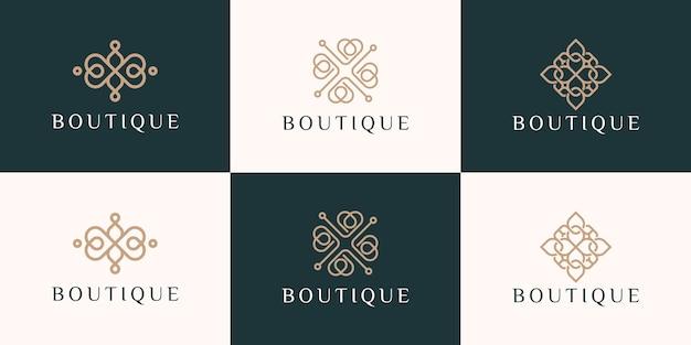 Sammlung von ornament-logo-design