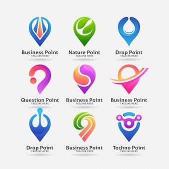 Sammlung von ortspunkt-logo-design