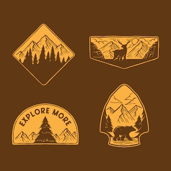 Sammlung von outdoor-emblem