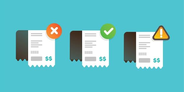 Sammlung von papierrechnungs-transaktionsbenachrichtigungen