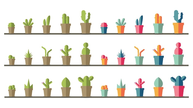 Sammlung von pflanzen und baum vektoren