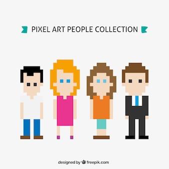 Sammlung von pixelig menschen