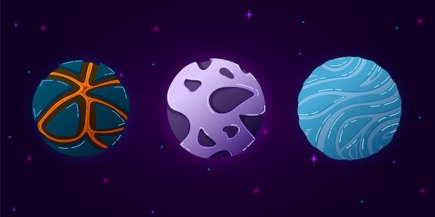 Sammlung von planeten des sonnensystems.