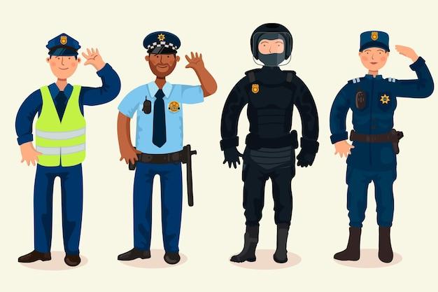 Sammlung von polizeiberufen