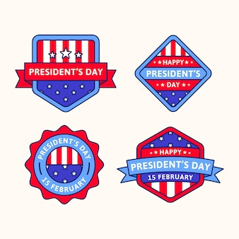 Sammlung von präsidententagsabzeichen
