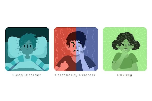 Sammlung von psychischen störungen