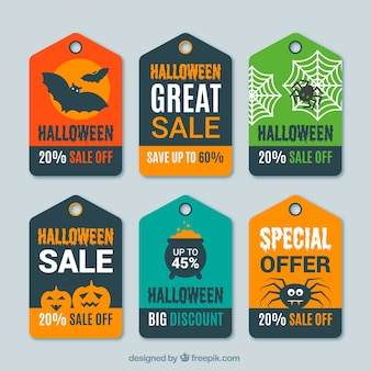 Sammlung von rabatt halloween tag