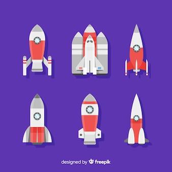 Sammlung von raketen