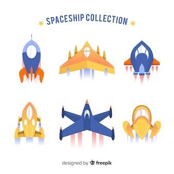 Sammlung von raumschiffen