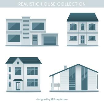 Sammlung von realistischen häusern