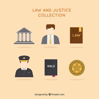 Sammlung von rechts- und justizelementen