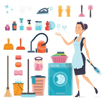 Sammlung von reinigungselementen