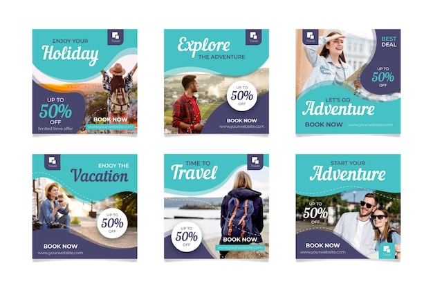 Sammlung von reiseverkaufsposten