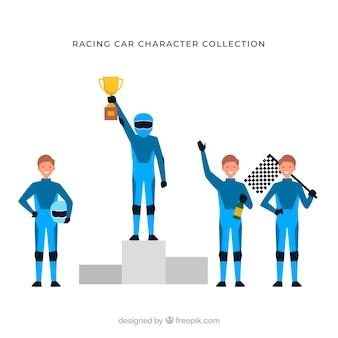 Sammlung von rennfiguren
