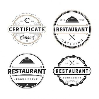 Sammlung von restaurantlogos und abzeichen
