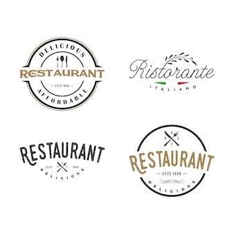 Sammlung von restaurantlogos