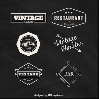 Sammlung von retro-abzeichen