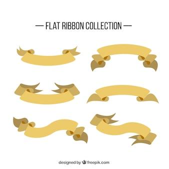 Sammlung von retro-band in flaches design