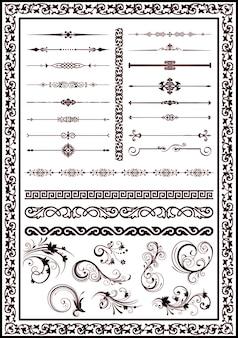 Sammlung von retro-designs