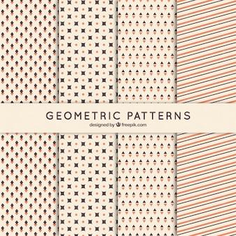 Sammlung von retro-geometrischen mustern