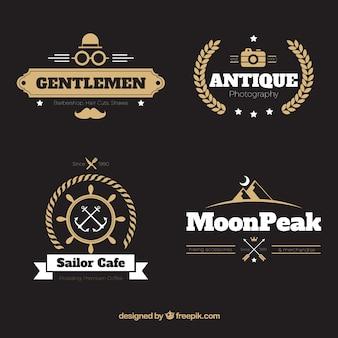 Sammlung von retro-insignien