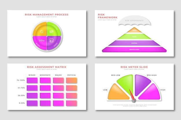 Sammlung von risikomanagement-infografiken