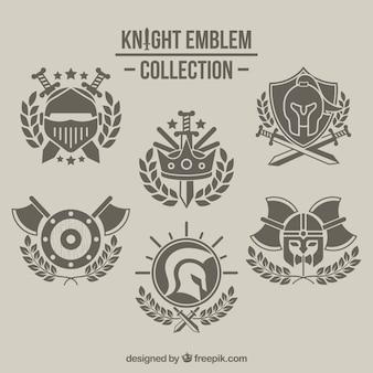 Sammlung von ritter-emblemen