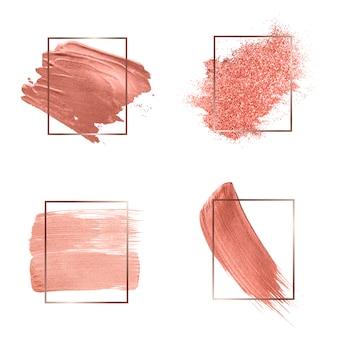 Sammlung von rosa pinselstrichen