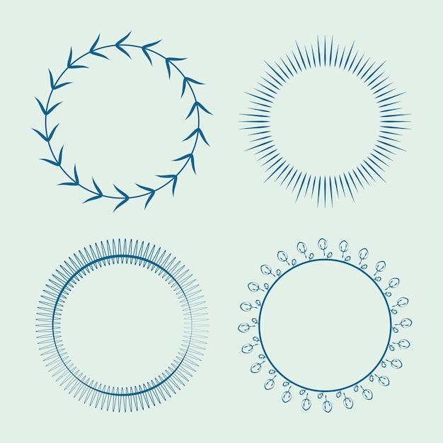 Sammlung von runden ornament design