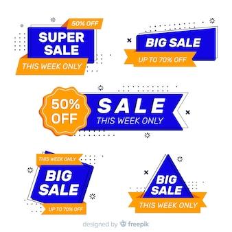 Sammlung von sales label flachen stil