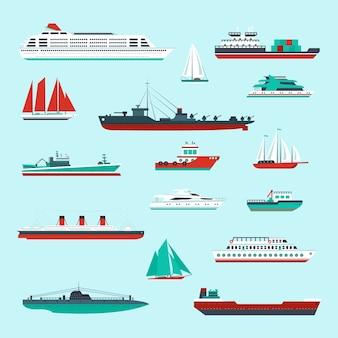 Sammlung von Schiffen