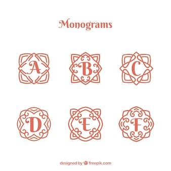 Sammlung von schönen hand gezeichneten monogramme