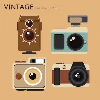 Sammlung von schönen retro-kamera