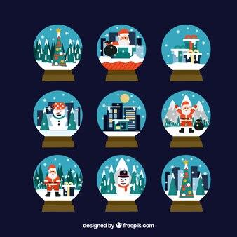 Sammlung von schönen schneebälle