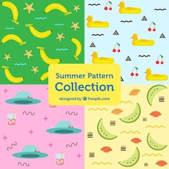 Sammlung von schönen sommermuster