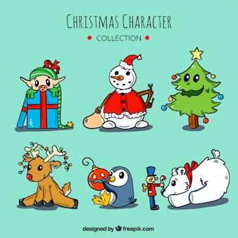 Sammlung von schönen weihnachten zeichnungen