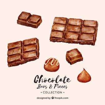Sammlung von schokoriegeln und bonbons