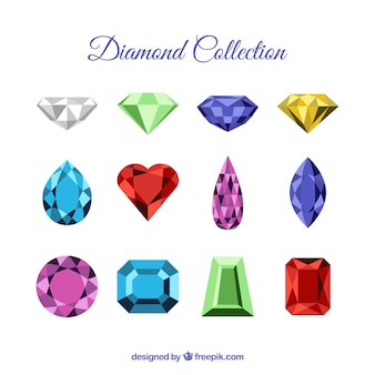 Sammlung von schönen Diamanten und Edelsteine
