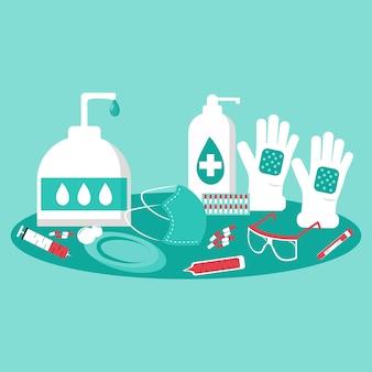 Sammlung von schutzelementen für virengeräte