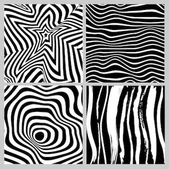 Sammlung von schwarz-weiss-geometrischen in nahtlosem muster