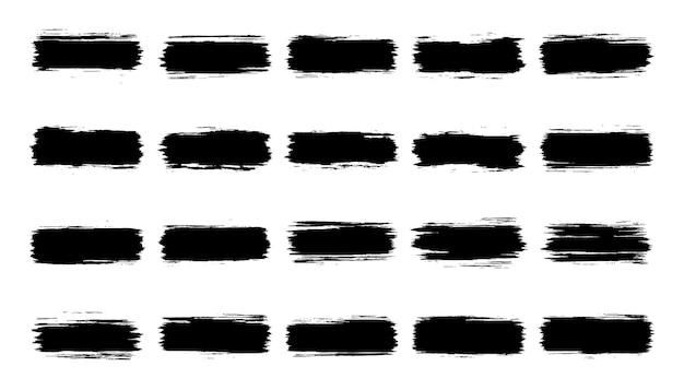 Sammlung von schwarzen grunge-pinselstrichen