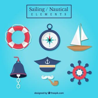 Sammlung von segelzubehör