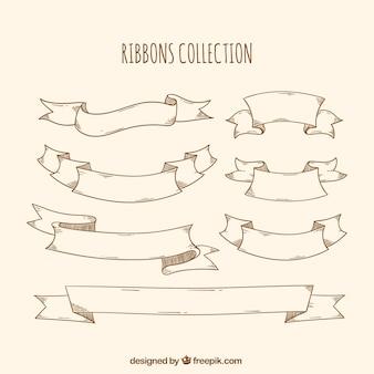 Sammlung von sieben dekorativen bändern