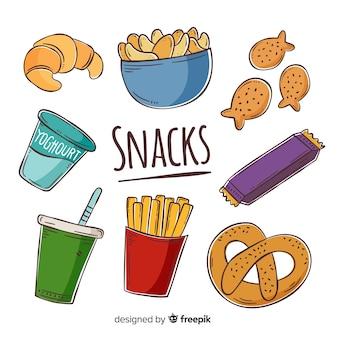 Sammlung von snacks