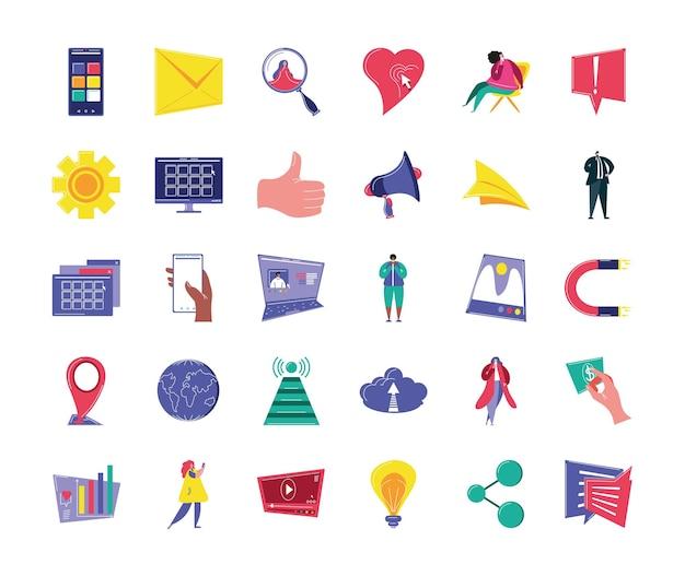 Sammlung von social media app-netzwerken