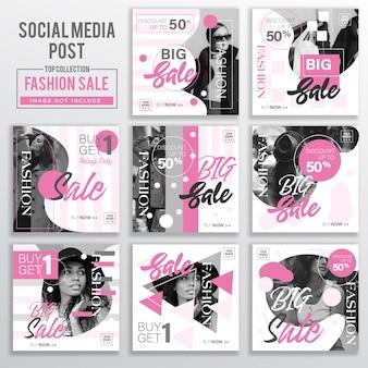 Sammlung von social media post design-vorlage