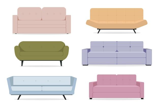 Sammlung von sofas